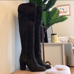 Dolce Vita Black Ohanna Over the Knee Boots 7.5